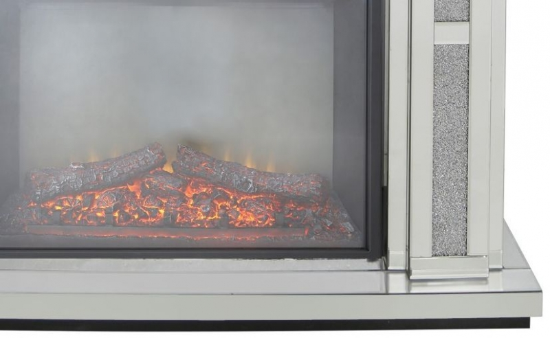 Naro Mirrored Fire Surround with Electric Fire (Set)