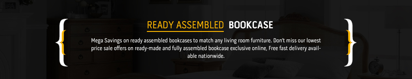 Ready Assembled Bookcase Ready Made Fully Assembled Bookcases – Ready to Assemble Bookcase