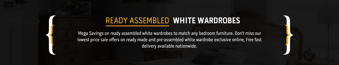 cool ready assembled white wardrobes with assembled wardrobes - Ready Assembled White Bedroom Furniture